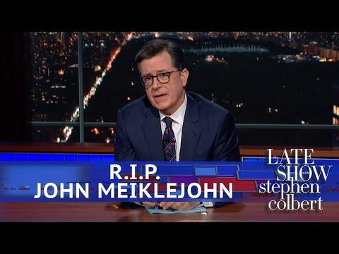 Stephen Pays Tribute To John Meiklejohn