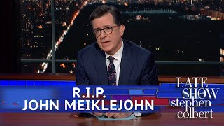 Stephen Pays Tribute To John Meiklejohn