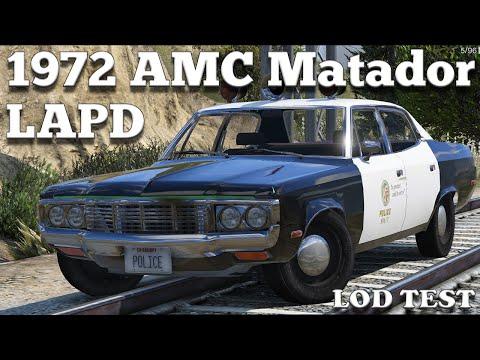 GTA V PC Mods - 1 Adam-12 1972 AMC Matador LAPD [DOWNLOAD]