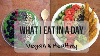 What I Eat In A Day #1   Vegan and Healthy (Smoothie Bowl, Salad Bowl, Creamy Pumpkin Pasta)