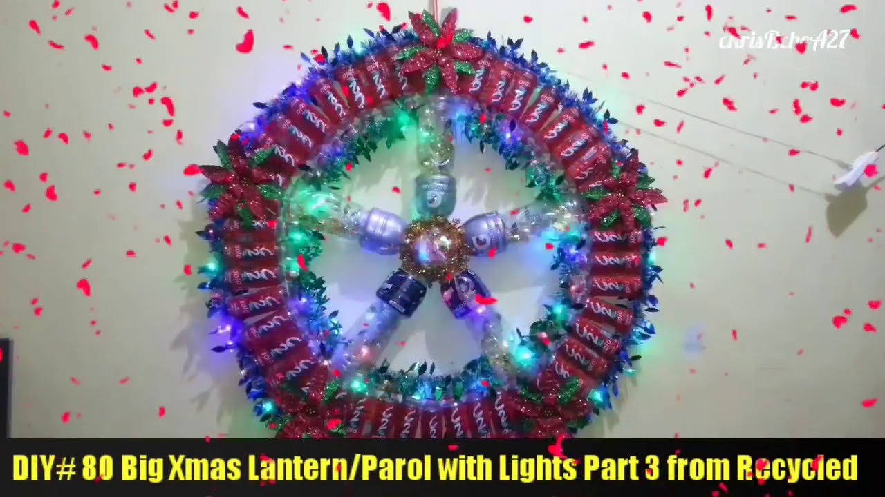 DIY 80 Big Xmas LanternParol with Lights