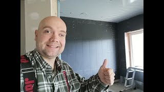 A whole week of bathroom tiles at #jarleifhouse!
