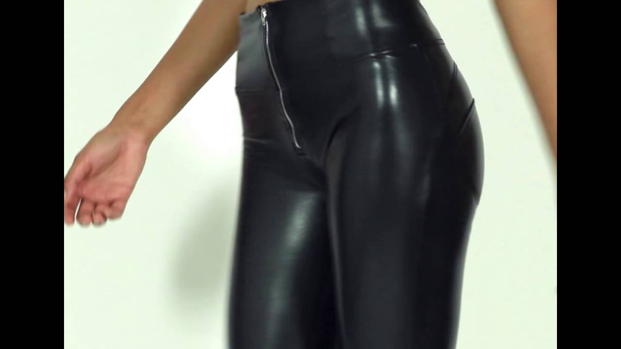 fd8275b09fb2f1 FREDDY WR.UP HIGH RISE ECO LEATHER EFFECT SKINNY - BLACK - YouTube
