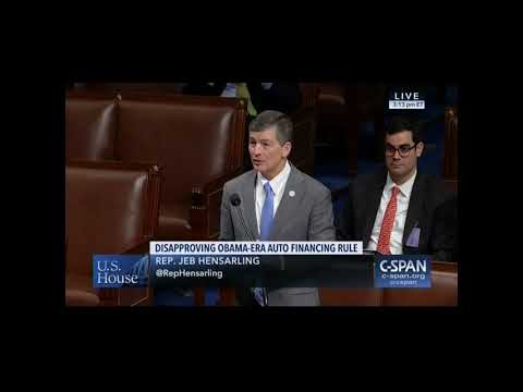 Chairman Hensarling Urges Passage of Bill to Reign in Bureau of Consumer Financial Protection