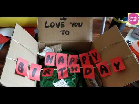 Birthday Surprise Ideas Birthday Surprise Gift Ideas 10 Diy Gifts For Husband Youtube