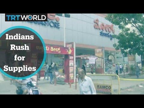 India Covid-19 Lockdown: Indians rush for supplies as three-week lockdown begins