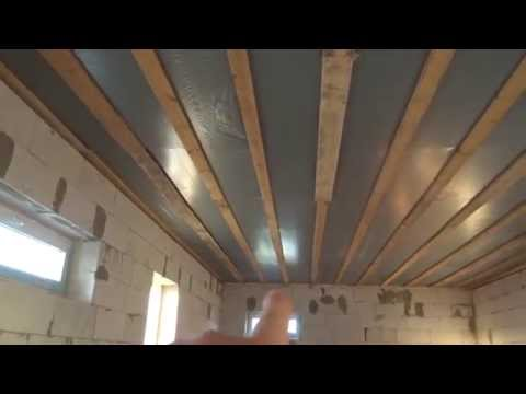 видео: Черновой потолок на деревянные перекрытия