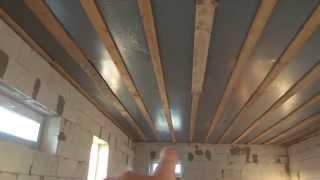 Черновой потолок на деревянные перекрытия(Канал стройка Самостоятельная организация процесса стройки. Строительство частного дома. Строительства..., 2015-11-12T19:06:23.000Z)