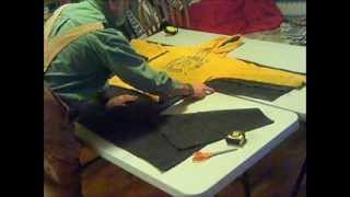Wool blanket coat DIY With fringes.