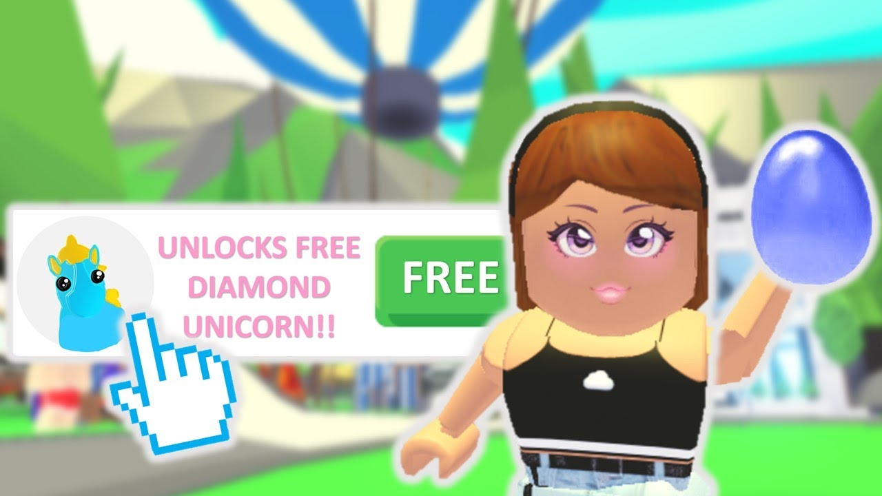 How To Get A Free Diamond Unicorn In Adopt Me Roblox Youtube