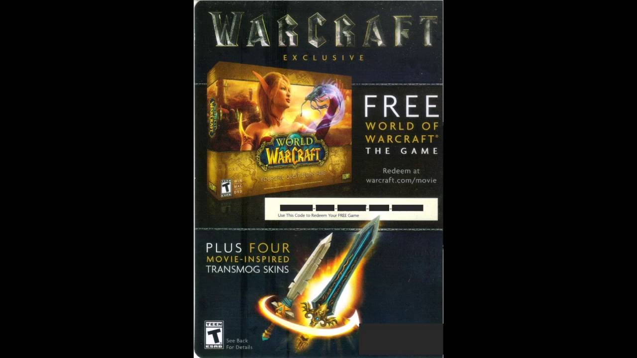 Free wow codes   World of Warcraft Coupons, Promo Codes, May 2019