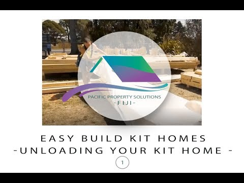 Fiji Easy Build Kit Homes -Unloading Your Kit Home