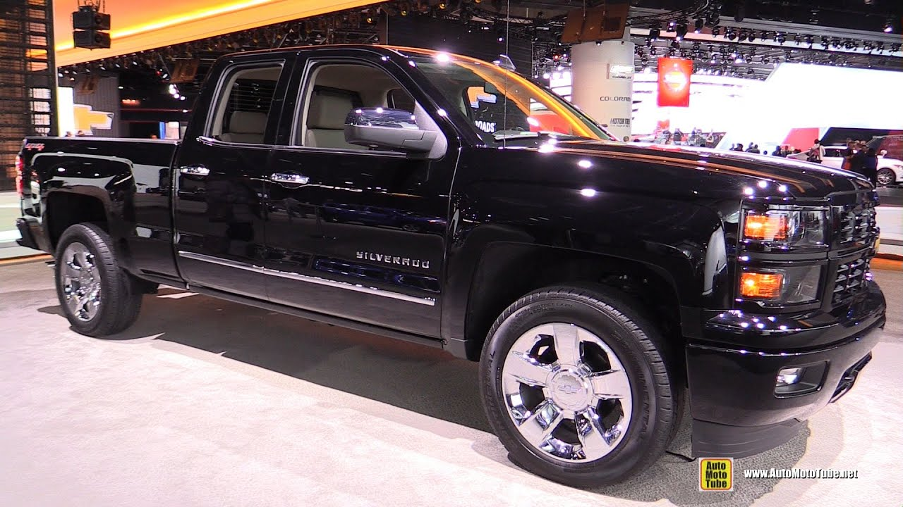 2015 chevrolet silverado ltz exterior and interior walkaround 2015 detroit auto show youtube. Black Bedroom Furniture Sets. Home Design Ideas