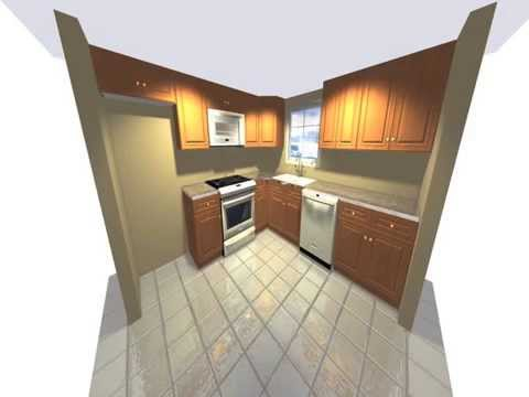 10 x 10 3d kitchen design transformation youtube - 10x10 kitchen designs with island ...