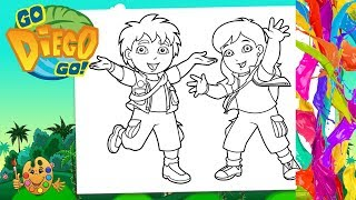 Go Diego Go : Diego Marquez, Alicia Marquez  | Coloring pages for kids | Coloring book |