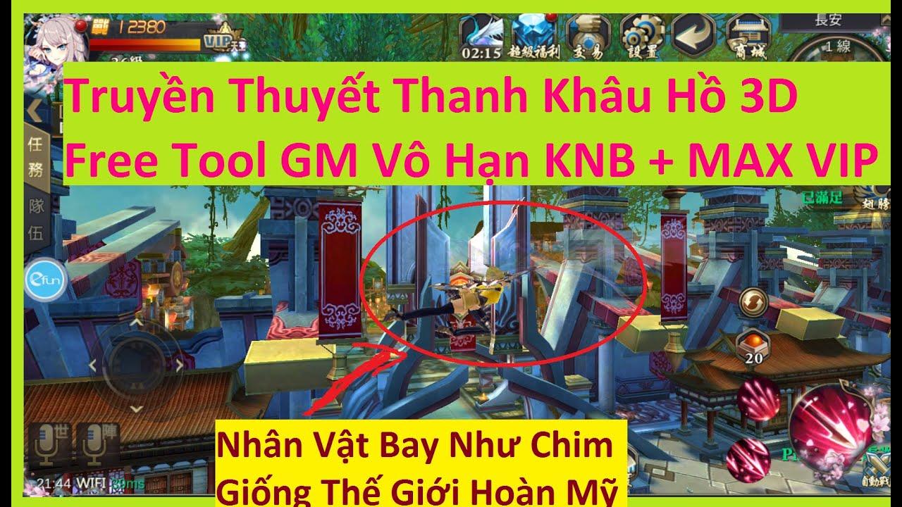 Game Lậu Truyền Thuyết Thanh Khâu Hồ 3D Free Tool GM Vô Hạn KNB + MAX VIP