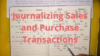Basic Accounting- Journalizing Sales and Purchase Transactions (Part 2)