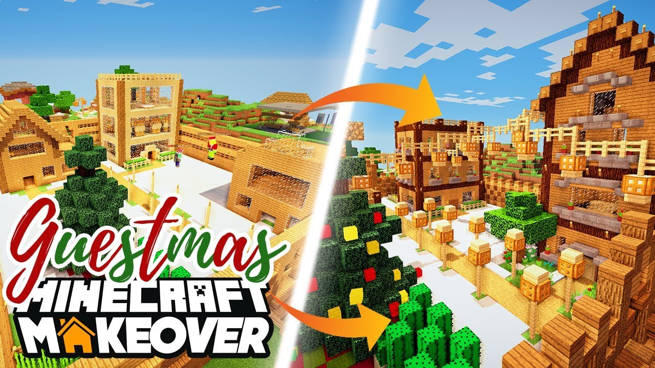 An Entire Village Minecraft Makeover Ep 10 Guestmas W Smallishbeans