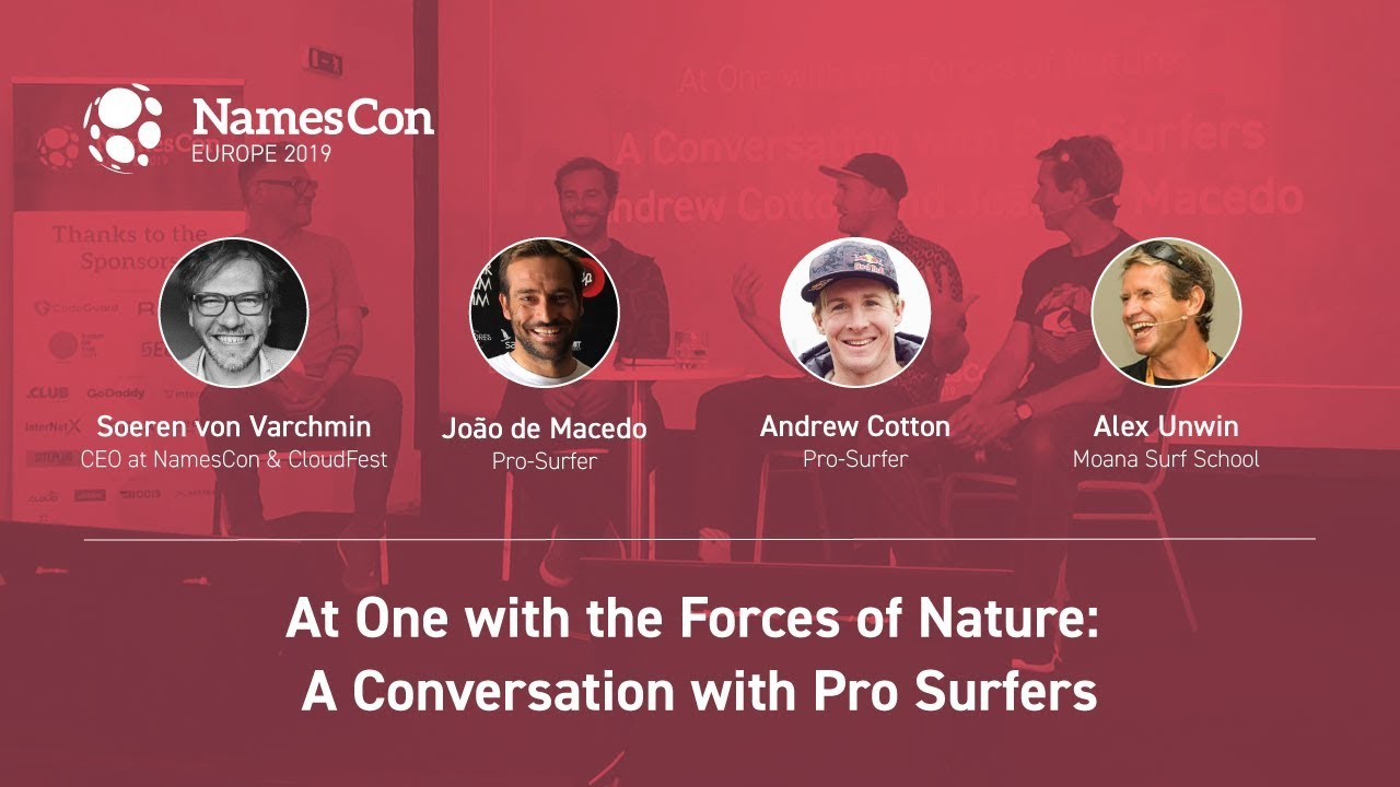 NamesCon Europe 2019: Business lessons from big wave surfers (video