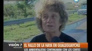 Visión Siete: La Haya: Opinión de ambientalistas de Gualeguaychú