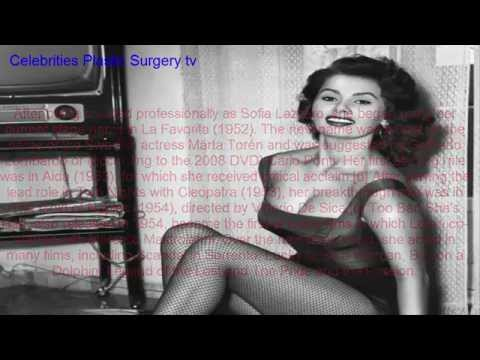 Sophia Loren before and after -young and old-
