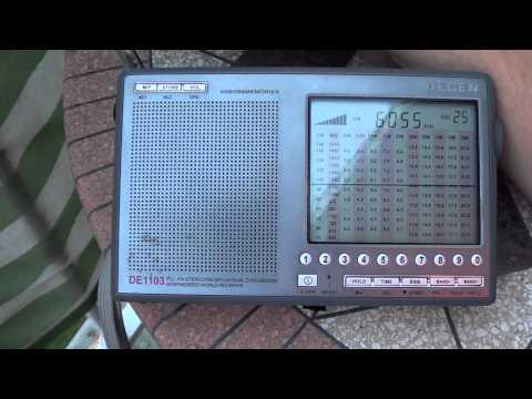 Radio Exterior Espana Degen DE 1103 VS Icom IC R20