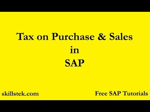 Tax on Purchase and Sales in SAP |Tax Procedure in SAP | Withholding Tax  configuration in SAP FICO