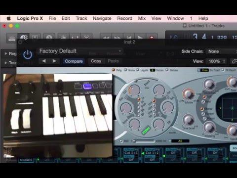 設定/使用 MIDI 鍵盤上的旋鈕/Fader/按鍵來控制 Logic Pro - YouTube