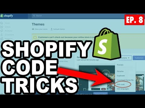 Fast & Simple Shopfiy Code Changes To Boost Sales – Beginners Guide To Shopify Dropshipping Ep.8