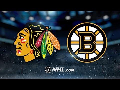 Bruins use balanced offense to defeat Blackhawks