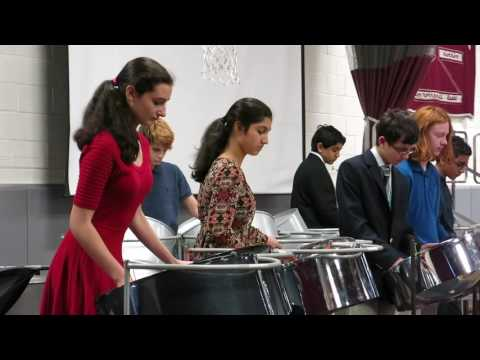 "Foote School Steel Pan Ensemble Performs ""Candyman"""