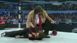 Mick Foley Puts Mr. Socko On Jimmy Hart - SmackDown 10.04.2012