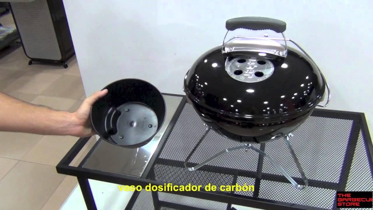 barbacoa carb n port til weber smokey joe negra youtube. Black Bedroom Furniture Sets. Home Design Ideas