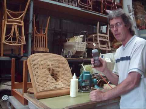 Chair Caning  How To  PeWoven Pt1  YouTube
