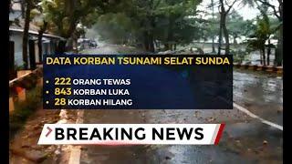Minggu (23/12/2018) Pukul 16.00, 222 Orang Meninggal Terdampak Tsunami Selat Sunda