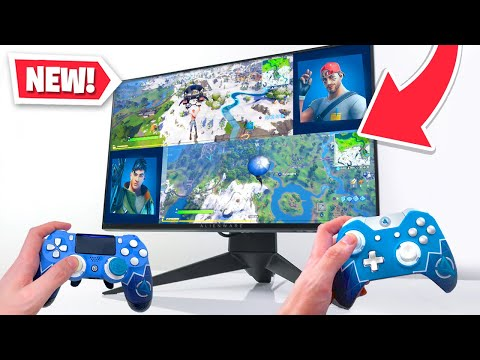*NEW* SPLIT SCREEN In Fortnite! (2 Players On 1 Screen)