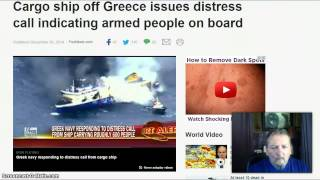 Cargo Ship off Greece! Distress Call Armed People On Board!
