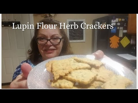Lupin Flour Herb Crackers