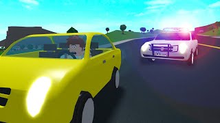 I Got PULLED OVER In ROBLOX BLOXBURG.. He ARRESTED Me!
