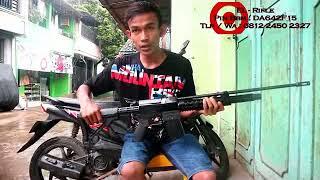 Woww keren model senapan angin pcp call 4,5mm airrarm predator SS