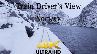 Train Driver's View: Bergen - Myrdal on a windy Saturday in 4K UltraHD