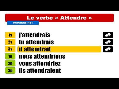 FRANÇAIS LANGUE ÉTRANGÈRE = Conjugaison = Attendre = Conditionnel Présent
