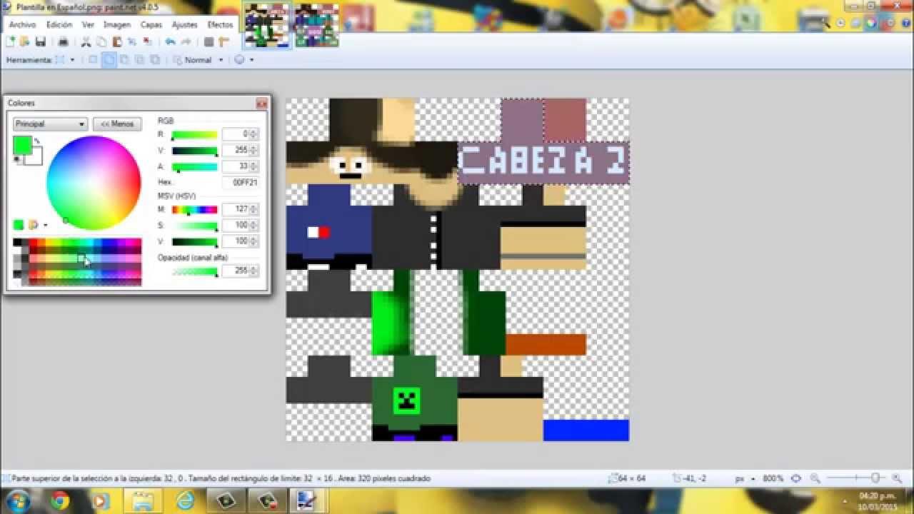 Cómo Hacer Una Skin Para Minecraft Doble Capa YouTube - Skins para minecraft 1 8 con capa