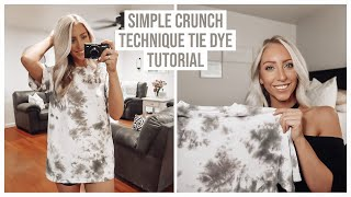 TIE DYE WITH ME! | SIMPLE CRUNCH TECHNIQUE USING RIT DYE
