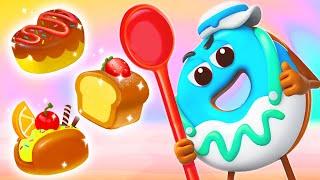 パンづくりたいかいへようこそ★ドーナツのチャレンジ第5話 | 赤ちゃんが喜ぶアニメ | 動画 | ベビーバス| BabyBus