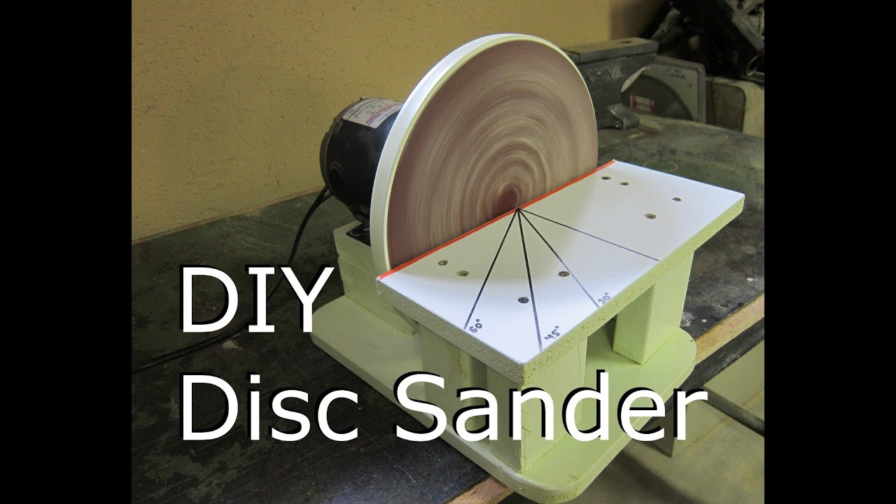 Disc sander make diy build viyoutube for 10 sanding disc for table saw