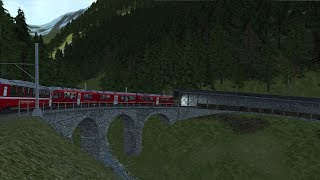Lets Play Train Simulator 2018 Bernina Pass Teil 2