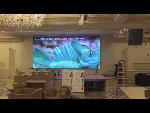 """LED Video Wall P5 """"Versailles Palace"""" restaurant , NY Queens"""