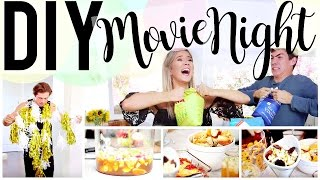 DIY MOVIE NIGHT: FOOD, DECOR & GAMES! | Meghan Rienks