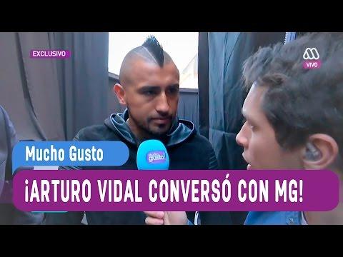 Arturo Vidal en exclusiva conversó con Karol - Mucho Gusto 2016